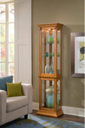 Estate Oak Mirrored Curio