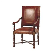 Flamboyan Arm Chair W/saddle Leather