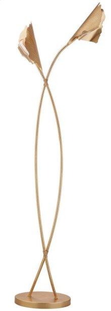 Merrigan Ginkgo Leaf Floor Lamp - Gold Leaf
