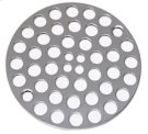 "4"" Round Shower Grid - ""Plastic Oddities"" - Antique Brass Product Image"