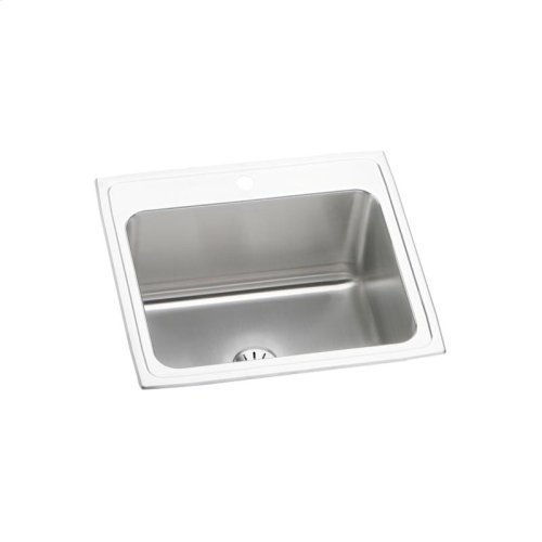 """Elkay Lustertone Classic Stainless Steel 25"""" x 22"""" x 10-3/8"""", Single Bowl Drop-in Sink with Perfect Drain"""