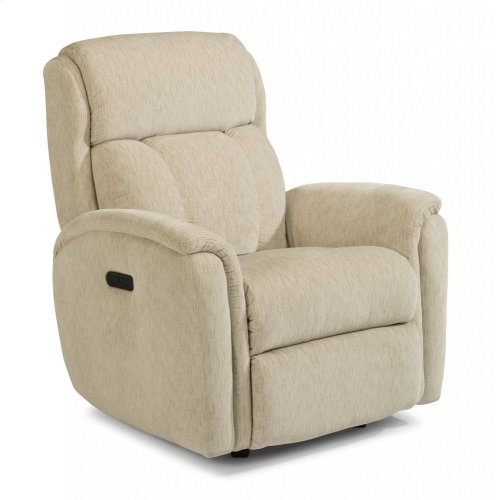 Luna Fabric Power Rocking Recliner with Power Headrest