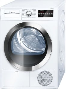 """800 Series 24"""" Compact Condensation Dryer 800 Series - White/Chrome WTG86402UC"""