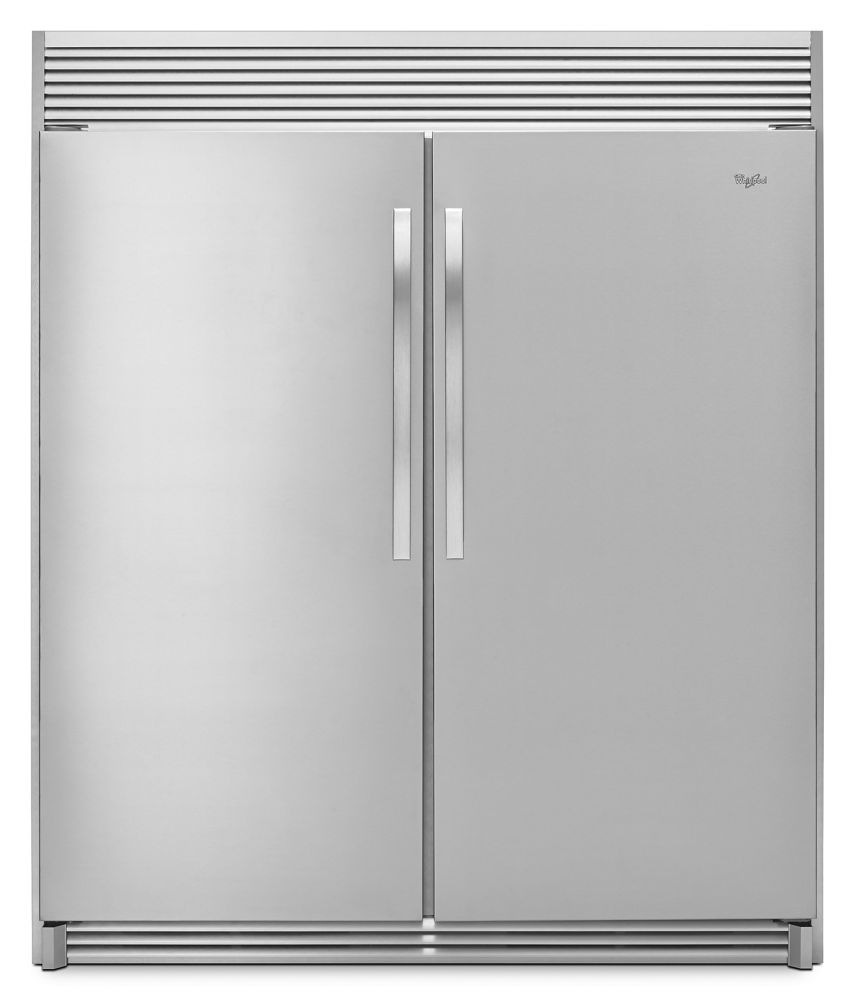 31-inch Wide SideKicks(R) All-Refrigerator with LED Lighting - 18 cu. ft.  MONOCHROMATIC STAINLESS STEEL