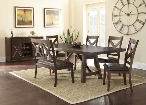 """Clapton Table, 42""""x72""""x96"""" w/two 12"""" Leaves"""
