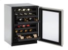"""Modular 3000 Series 24"""" Wine Captain® Model With Stainless Frame Finish and Field Reversible Door Swing (115 Volts / 60 Hz) Product Image"""