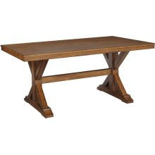 Canyon Solid Top Table in Pecan