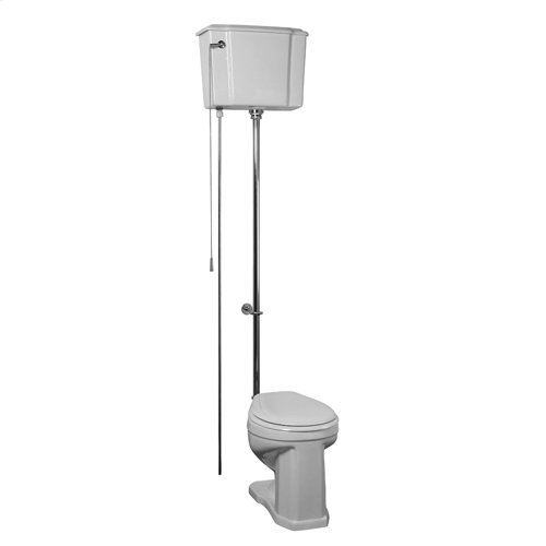 Victoria High Tank Toilet - White/polished Nickel Trim