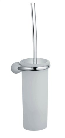 Toilet Brush Holder - Brushed Nickel