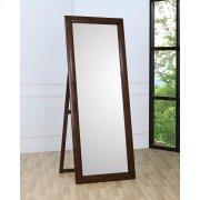 Hillary Warm Brown Standing Floor Mirror Product Image