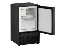 "Ada Series 15"" Crescent Ice Maker With Black Solid Finish and Field Reversible Door Swing"
