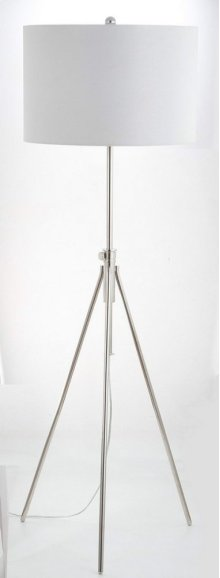 Cipriana Floor Lamp - Nickel Shade Color: White