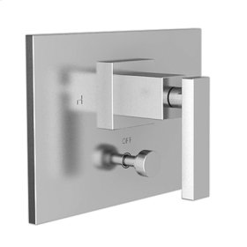 English Bronze Balanced Pressure Tub & Shower Diverter Plate with Handle. Less Showerhead, arm and flange.