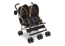LX Side by Side Stroller - Black \u0026 Orange (820)