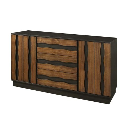 Octavia Rustic Sappy Walnut Server
