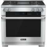 MieleHR 1936-2 LP 36 inch range Dual Fuel with M Touch controls, Moisture Plus and M Pro dual stacked burners
