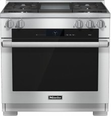 HR 1936 G 36 inch range Dual Fuel with M Touch controls, Moisture Plus and M Pro dual stacked burners