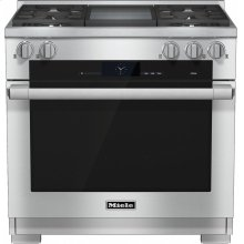 HR 1936-2 G 36 inch range Dual Fuel with M Touch controls, Moisture Plus and M Pro dual stacked burners