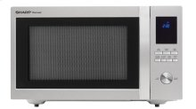 1.6 cu. ft. 1100W Sharp Stainless Steel Carousel Countertop Microwave Oven