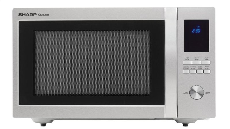 1100w Sharp Stainless Steel Carousel Countertop Microwave Oven