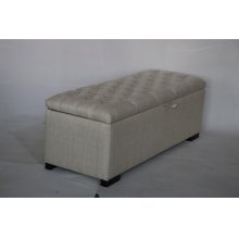Camille Transitional Cream and Cappuccino Storage Bench