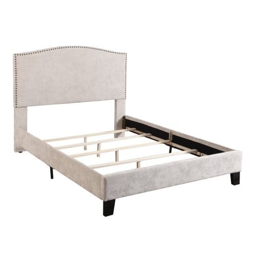 Emerald Home Colton Upholstered Bed Kit Cal King Cream B126-13hbfbr-09