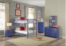 Royal Blue Twin/Twin Bunkbed