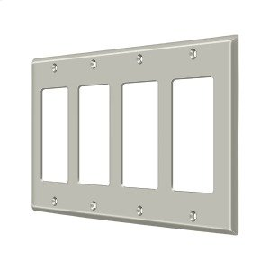 Switch Plate, Quadruple Rocker - Brushed Nickel Product Image
