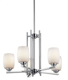 Eileen 5 Light Chandelier Chrome