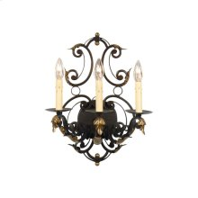 Iron Leaves Sconce