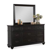 Belmeade Nine Drawer Dresser Raven Black finish
