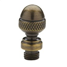 Satin Brass and Black Acorn Finial