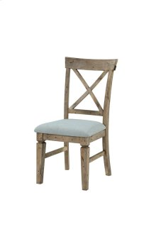 Emerald Home Valencia X-back Side Chair W/uph Seat-natural Reclaimed Pine Finish (2/ctn) D559-20