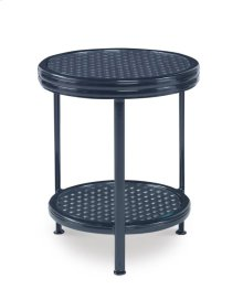 Augustine Metal Occasional Table W/ Tempered Glass