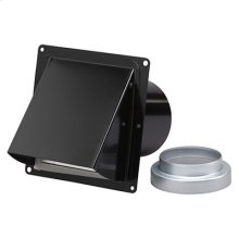 "Wall Cap, Steel, Black, for 3"" and 4"" round duct (no bird screen)"