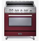 "Burgundy 36"" Electric Single Oven Range Product Image"