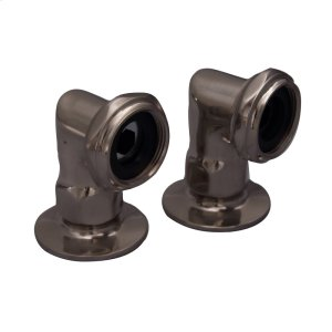 """Faucet Elbows - 2"""" Pair - Brushed Nickel Product Image"""