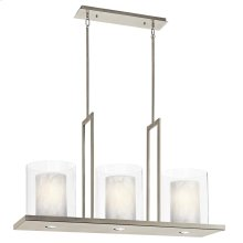 "Triad Collection Triad 40"" 3 Light Linear Chandelier - Classic Pewt"