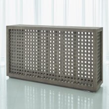 Driftwood Lattice Console-Grey