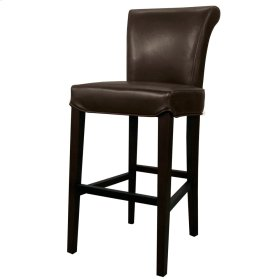 Bentley Leather Counter Stool, Mocha