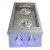 Additional Premier Double Side Burner w/ LED Lights - RJCSSBL - Propane Gas