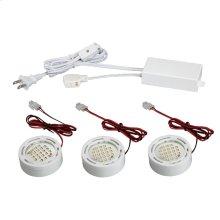 MINIPUCK KIT,3-LIGHT DOWN,LED - White
