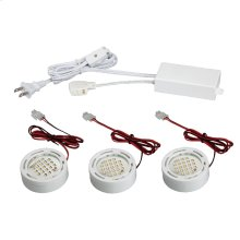 MINIPUCK KIT,3-LIGHT DOWN,LED - White