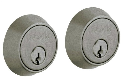 Distressed Antique Nickel Contemporary Deadbolt