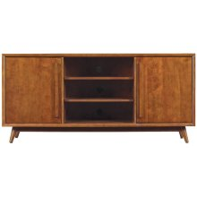 This beautiful TV stand is a wonderful piece inspired by mid-century modern...