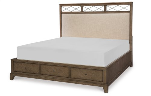 Apex Upholstered Platform Bed w/Storage, CA King 6/0