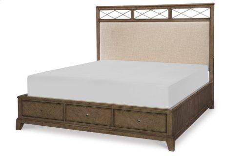 Apex Upholstered Platform Bed w/Storage, Queen 5/0