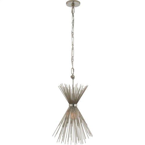 Visual Comfort KW5077PN Kelly Wearstler Strada 9 inch Polished Nickel Pendant Ceiling Light, Kelly Wearstler, Small