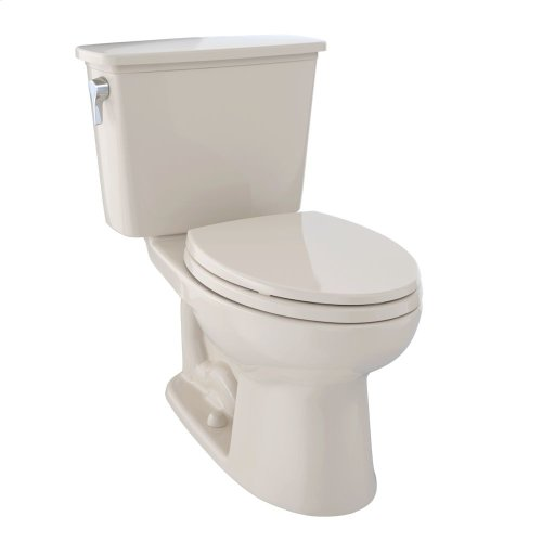 Eco Drake® Transitional Two-Piece Toilet, 1.28 GPF, Elongated Bowl - Bone