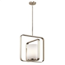 City Loft Collection City Loft 1 Light Pendant in PN